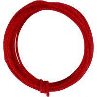Fil de jute, ép. 2-4 mm, rouge, 3 m/ 1 Pq.