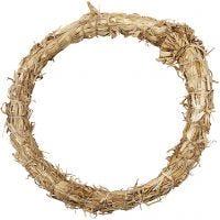 Krans van stro, d: 21 cm, dikte 2 cm, 1 stuk