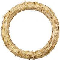 Krans van stro, d: 27 cm, dikte 3 cm, 1 stuk