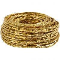 Papiergaren, dikte 3,5-4 mm, goud, 25 m/ 1 rol