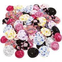 Mini hoeden, d: 4 cm, diverse kleuren, 100 stuk/ 1 doos