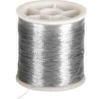 Naaigaren, dikte 0,15 mm, zilver, 100 m/ 1 rol