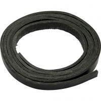 Leerband, B: 10 mm, dikte 3 mm, zwart, 2 m/ 1 doos