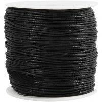 Katoenkoord, dikte 0,6 mm, zwart, 100 m/ 1 doos