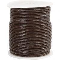 Leerkoord, dikte 2 mm, bruin, 50 m/ 1 rol