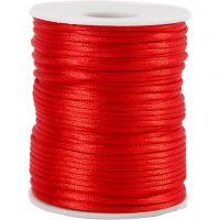 Satijnkoord, dikte 2 mm, rood, 50 m/ 1 rol