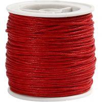 Katoenkoord, dikte 1 mm, rood, 40 m/ 1 rol