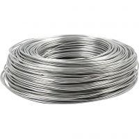 Alu draad, rond, dikte 2 mm, zilver, 100 m/ 1 rol