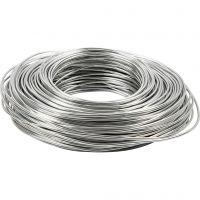 Alu draad, dikte 2,5 mm, zilver, 75 m/ 1 rol