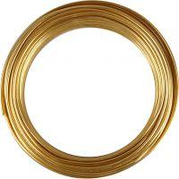 Alu draad, rond, dikte 3 mm, goud, 29 m/ 1 rol