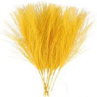 Kunstveren, L: 15 cm, B: 8 cm, geel, 10 stuk/ 1 doos