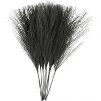 Kunstveren, L: 15 cm, B: 8 cm, zwart, 10 stuk/ 1 doos