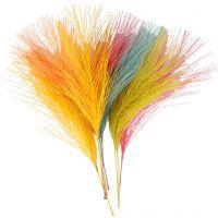 Kunstveren, L: 15 cm, B: 8 cm, diverse kleuren, 10 stuk/ 1 doos