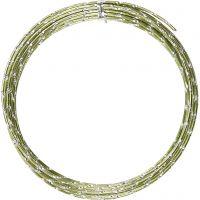 Alu draad, diamond-cut, dikte 2 mm, groen, 7 m/ 1 rol