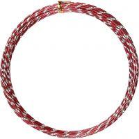 Alu draad, diamond-cut, dikte 2 mm, rood, 7 m/ 1 rol