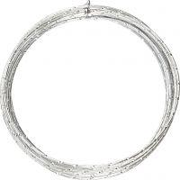 Alu draad, diamond-cut, dikte 2 mm, zilver, 7 m/ 1 rol