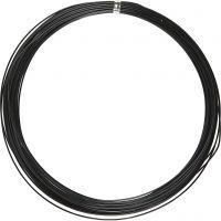 Alu draad, rond, dikte 1 mm, zwart, 16 m/ 1 rol