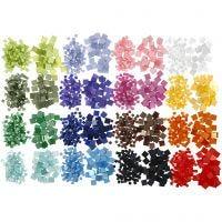 Mini mozaiek, afm 5x5+10x10 mm, 32x25 gr/ 1 doos