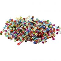 Pailletten, rond, d: 6 mm, 10 gr/ 1 doos