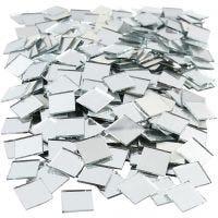 Spiegel mozaiek tegels, afm 16x16 mm, 500 stuk/ 1 doos