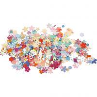 Pailletten, d: 5-20 mm, pastelkleuren, 250 gr/ 1 doos