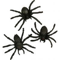 Spinnen, afm 4 cm, 10 stuk/ 1 doos