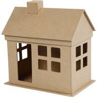 Huis, H: 23 cm, diepte 14,5 cm, L: 22,5 cm, 1 stuk