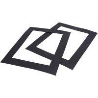 Passepartouts, A4, 500 gr, zwart, 100 stuk/ 1 doos