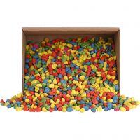 Mozaiek stenen, afm 8-10 mm, sterke kleuren, 2 kg/ 1 doos