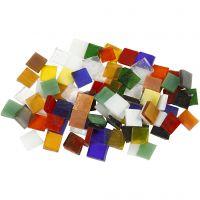 Glas mozaiek tegels, afm 10x10 mm, 454 gr/ 1 doos