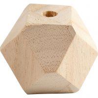 Diamantvormige kralen, B: 43 mm, gatgrootte 8 mm, 3 stuk/ 1 doos