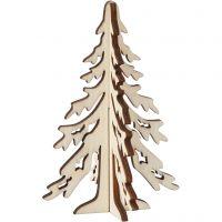 Kerstboom, H: 12,5 cm, B: 8,5 cm, 1 stuk