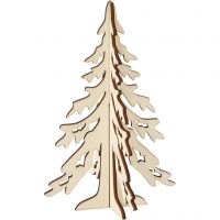 Kerstboom, H: 20 cm, B: 13 cm, 1 stuk
