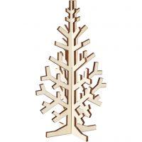Kerstboom, H: 20 cm, B: 12 cm, 1 stuk