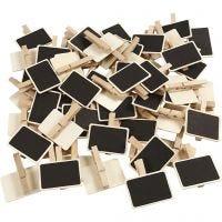 Schoolbord met wasknijpers, afm 6,8x4,7 cm, 100 stuk/ 1 doos