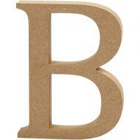 Letter, B, H: 13 cm, dikte 2 cm, 1 stuk
