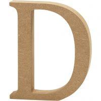 Letter, D, H: 13 cm, dikte 2 cm, 1 stuk