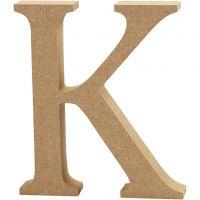 Letter, K, H: 13 cm, dikte 2 cm, 1 stuk