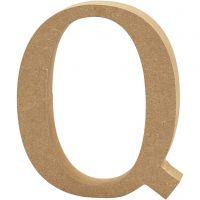 Letter, Q, H: 13 cm, dikte 2 cm, 1 stuk