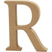 Letter, R, H: 13 cm, dikte 2 cm, 1 stuk
