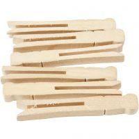 Wasknijpers, L: 9,5 cm, B: 1,4 cm, 100 stuk/ 1 doos