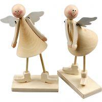 Kegelvormige engelen, H: 15 cm, 2 stuk/ 1 doos