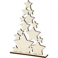 Kerstboom, H: 29,8 cm, diepte 4 cm, B: 21,5 cm, 1 stuk