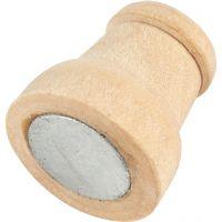 Magneet, H: 13 mm, d: 9-12 mm, 20 stuk/ 1 doos
