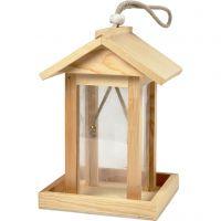 Vogelhuis, H: 21.5 cm, L: 14.5 cm, B: 14,5 cm, 1 stuk
