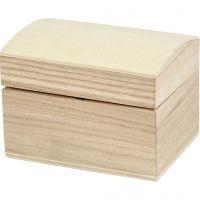 Coffret en bois, dim. 8x6x4,5 cm, 1 pièce