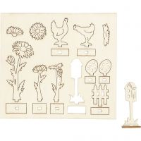 DIY Houten figuren, L: 15,5 cm, B: 17 cm, 1 doos
