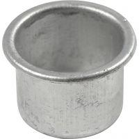 Kaarsenhouders, H: 18 mm, d: 25 mm, gatgrootte 22 mm, 12 stuk/ 1 doos