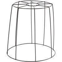 Lampenkap, H: 20 cm, d: 15,5-20 cm, zwart, 1 stuk