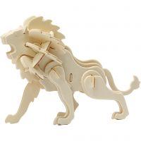 3D Puzzel, leeuw, afm 18,5x7x7,3 , 1 stuk
